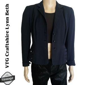 VTG 40s Craftshire Navy Blue Blazer